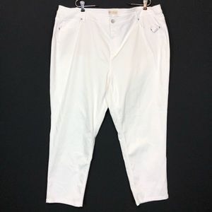 J jill white authentic fit slim ankle stretch jean